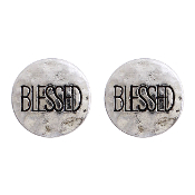 BLESSED POST EARRING #24620-S