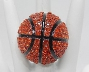 BLING BASKETBALL STRETCH RING #LGBBR
