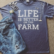LIFE IS BETTER ON THE FARM NAVY TSHIRT 8PK $48.00