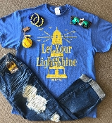 LET YOUR LIGHT SHINE ROYAL BLUE TSHIRT 8PK $48.00