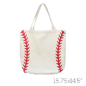 CANVAS BASEBALL TOTE BAG #HB00035BE