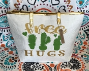 FREE HUGS LARGE TOTE BAG #CWSB-0101-GOLD