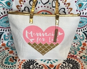MERMAID FOR LIFE LARGE TOTE BAG #CWSB-0100-GOLD
