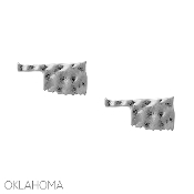 OKLAHOMA HAMMERED POST EARRINGS #25079-S