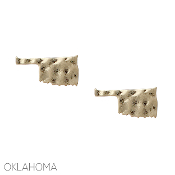 OKLAHOMA HAMMERED POST EARRINGS #25079-G