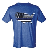 BACK THE BLUE CREW NECK HEATHER ROYAL TSHIRT 8PK $60.00