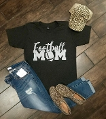 FOOTBALL MOM GRAPHITE VNECK TSHIRTS 2X & 3X $9.50