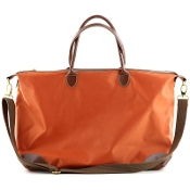 LARGE NYLON DUFFEL/OVERNIGHTER #1294ORANGE