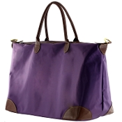 LARGE NYLON DUFFEL/OVERNIGHTER #1294PURPLE