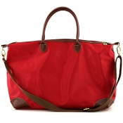 LARGE NYLON DUFFEL/OVERNIGHTER #1294RED