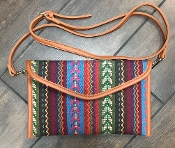 AZTEC BLANKET CROSS BODY HANDBAG #HD3221 MULTI