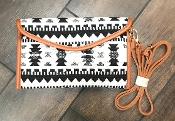AZTEC BLANKET CROSS BODY HANDBAG #HD3221 BLACK