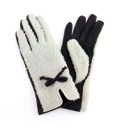 SHERPA AND LEATHER GLOVES #MG0022BK $6.50