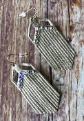 LEATHER FRINGE EARRING #SE0359LTGOLD $3.50