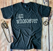 I AM WHOSOEVER GRAPHITE VNECK TSHIRTS SIZE SMALL $7.50