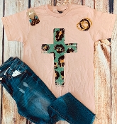LEOPARD CROSS CORAL CREW NECK TSHIRTS 8PK $60