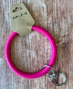 SILICONE KEYRING #KC374X180T2 HOT PINK