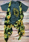 SUNFLOWER VEST BLACK  #PN222X089 $6.50
