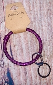 BLING RING KEYCHAIN #BB139X107J PURPLE  $3.75