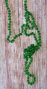 "60"" CRYSTAL BEAD NECKLACE #SM1001-06-AB-GREEN $3.75"
