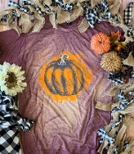 THE GREAT PUMPKIN BLEACHED WINE TSHIRT SIZE 2XL $12.00