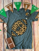 LEOPARD PRINT FOOTBALL SHIRT SIZE SMALL $7.50