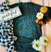 GRATEFUL AND BLESSED T- SHIRT 8PK $60