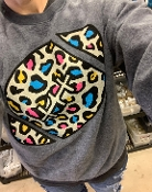 INSIDE OUT MULTI LEOPARD FOOTBALL SWEATSHIRT 6PK $99