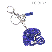 HELMET BLINGY KEYCHAIN #31370SA-S ROYAL BLUE