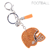 HELMET BLINGY KEYCHAIN #31370HY-S ORANGE
