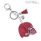 HELMET BLINGY KEYCHAIN #31370LSI-S RED