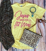JESUS LOVES THIS HOT MESS TSHIRT 8PK $48