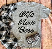 WIFE MOM BOSS TSHIRT 8PK $48.00