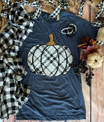 CUTEST PUMPKIN IN THE PATCH - HEATHER DENIM  TSHIRT 8PK $60