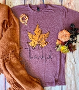 THANKFUL AUTUMN LEAF WINE  TSHIRT 8PK $60