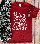 BABY IT'S COLD OUTSIDE RED TSHIRT 8PK $48
