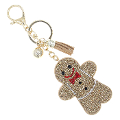 GINGERBREAD  BLING KEYCHAIN #31435XLCT-G