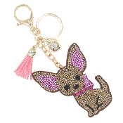 CHIHUAHUA BLING KEYCHAIN #31424STO-G