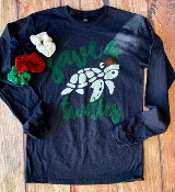 SAVE THE TURTLES LONG SLEEVE NAVY TSHIRT 8PK $76.00