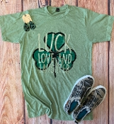 LUCK LOVE AND LAUGHTER CREW NECK SAGE SIZE 2XL $9.50
