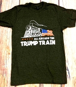 TRUMP TRAIN 2020 CREW NECK TSHIRT SIZE SMALL