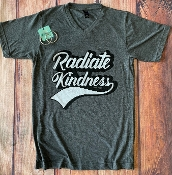 RADIATE KINDNESS VNECK TSHIRT SIZE SMALL $7.50