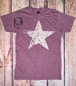 DISTRESSED STAR  CREW NECK TSHIRT SIZE SMALL $7.50