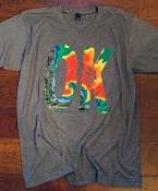 OK WEATHER MAP SHIRT HEATHER CHARCOAL SIZE SMALL $7.50